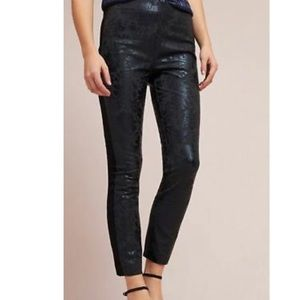 Anthropologie The Essential Skinny Black Trousers
